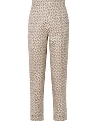 Brock Collection - Peregrine Cotton And Silk-blend Brocade Tapered Trousers - Lyst