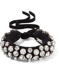 Isabel Marant - Suede And Crystal Bracelet - Lyst