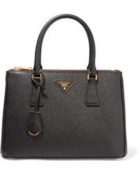 Prada - Galleria Medium Textured-leather Tote - Lyst