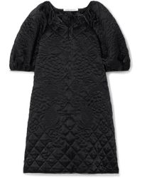 Cecile Bahnsen - Clara Oversized Quilted Silk Mini Dress - Lyst