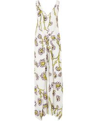 Diane von Furstenberg - Marrah Gathered Printed Twill Jumpsuit - Lyst