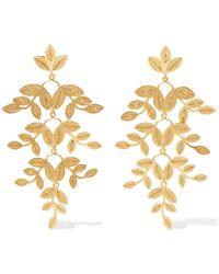 Mallarino - Gabriella Gold Vermeil Earrings Gold One Size - Lyst