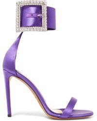 Alexandre Vauthier - Yasmin Swarovski Crystal-embellished Satin Sandals - Lyst