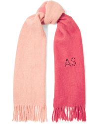 Acne Studios - Kelow Two-tone Embroidered Felt Scarf - Lyst
