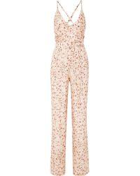 Paloma Blue - Eclipse Floral-print Silk-satin Jumpsuit - Lyst