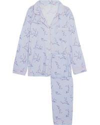 Eberjey - Floral-print Jersey Pyjama Set - Lyst