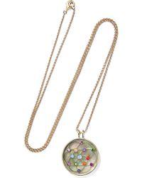 Noor Fares - 18-karat Grey Gold Multi-stone Necklace - Lyst