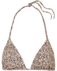 Matteau - The String Printed Triangle Bikini Top - Lyst