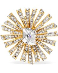 Kenneth Jay Lane - Rhodium-plated Crystal Brooch - Lyst