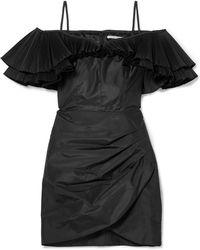 Alessandra Rich - Ruffled Silk-blend Taffeta Mini Dress - Lyst