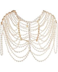 Rosantica - Legame Gold-tone, Pearl And Crystal Body Chain - Lyst