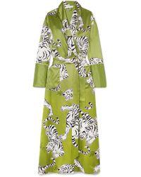 Olivia Von Halle - Capability Rola Printed Silk Robe - Lyst