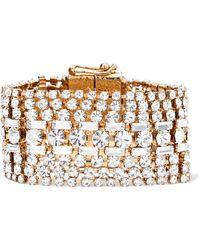 Rosantica - Luci Gold-tone Crystal Bracelet Gold One Size - Lyst