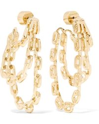 Jennifer Fisher - Adwoa Gold-plated Earrings - Lyst