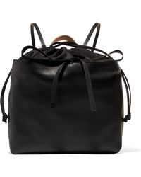 Marni - Leather And Shell Backpack - Lyst