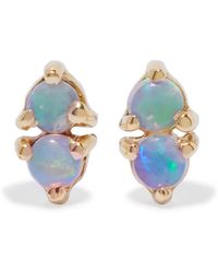 Wwake - Two Step Gold Opal Earrings - Lyst