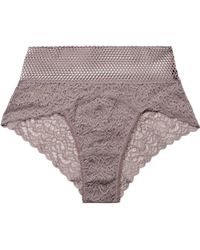 Else - Arya Stretch-lace And Mesh Briefs - Lyst