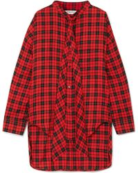 Balenciaga | Swing Printed Tartan Cotton-blend Twill Shirt | Lyst