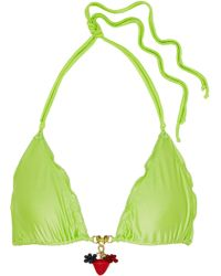 Agent Provocateur - Berry Embellished Bikini Top - Lyst