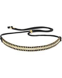 Jemma Wynne - 18-karat Gold, Diamond And Cord Necklace - Lyst