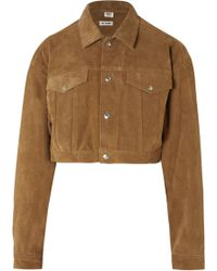 RE/DONE - Cropped Fringed Suede Jacket - Lyst
