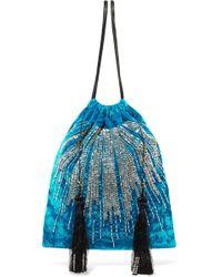 Attico - Embellished Velvet Pouch Bag - Lyst