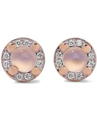 Pomellato - M'ama Non M'ama 18-karat Rose Gold, Moonstone And Diamond Earrings - Lyst