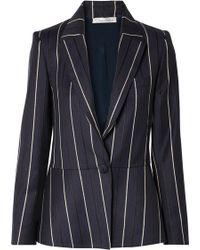 Oscar de la Renta - Striped Wool-blend Blazer - Lyst