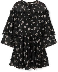 Paul & Joe - Layered Floral-print Silk-chiffon Mini Dress - Lyst