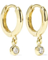 Jennifer Meyer - Huggies 18-karat Gold Diamond Earrings - Lyst
