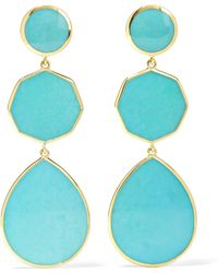 Ippolita - Polished Rock Candy Crazy 8's 18-karat Gold Turquoise Earrings Gold One Size - Lyst