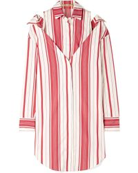 Hellessy - Duquette Layered Striped Silk And Cotton-blend Shirt - Lyst