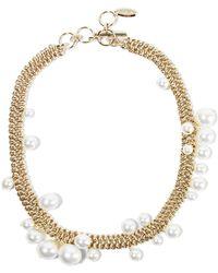Lanvin - Gold-tone Faux Pearl Necklace - Lyst