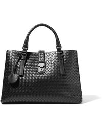 Bottega Veneta - Roma Large Intrecciato Leather Tote - Lyst