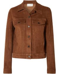 The Row - Coltra Suede Jacket - Lyst