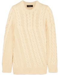 Theory - Cable-knit Sweater - Lyst