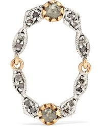 Pascale Monvoisin - Adele N°3 9-karat Gold, Silver And Diamond Earring - Lyst