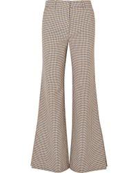 Paul & Joe - Houndstooth Tweed Flared Pants - Lyst