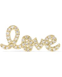Sydney Evan - Love 14-karat Gold Diamond Earring - Lyst