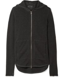 ATM - French Cotton-blend Terry Hooded Top - Lyst