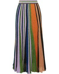 Missoni - Pleated Metallic Stretch-knit Maxi Skirt - Lyst