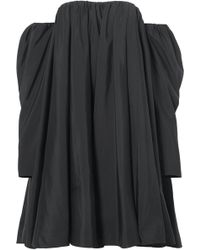 CALVIN KLEIN 205W39NYC - Off-the-shoulder Ruffled Shell Dress - Lyst