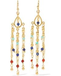 Chan Luu - Gold-plated Beaded Earrings - Lyst