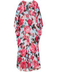 Dolce & Gabbana - Floral-print Silk-chiffon Kaftan - Lyst