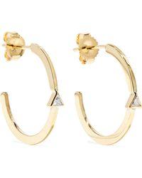 Jennifer Meyer - 18-karat Gold Diamond Hoop Earrings - Lyst