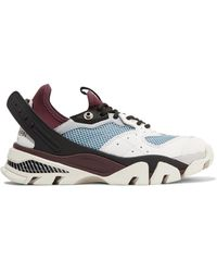 CALVIN KLEIN 205W39NYC - Carla Logo-print Leather, Rubber And Mesh Sneakers - Lyst
