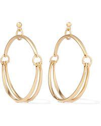 Chloé - Nile Gold-plated Hoop Earrings - Lyst