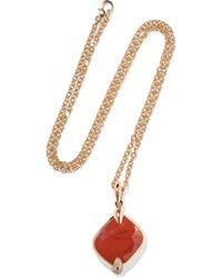 Pomellato - Ritratto 18-karat Rose Gold, Jasper And Diamond Necklace - Lyst