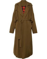 Preen By Thornton Bregazzi - Lana Oversized Reversible Twill Coat - Lyst