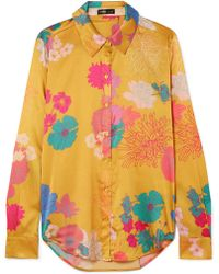 Stine Goya - Maxwell Floral-print Silk-blend Charmeuse Shirt - Lyst